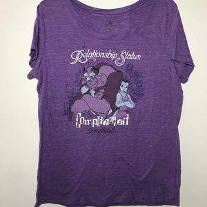Disney Beauty & The Beast Purple T-shirt Size XL